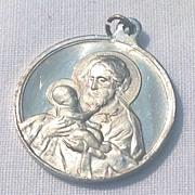 SALE Vintage Aluminum Italian St. Joseph Medal