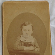 Vintage Cabinet Photo Card Child