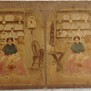 SALE 1865 Stereo View Stereo Photography Card