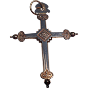REDUCED Victorian Gold Filled Religious Two Sided Cross