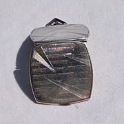 REDUCED Art Deco Sterling Silver Double Photo Locket