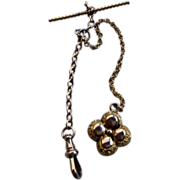 REDUCED Victorian Gold Filled Watch Chain & Fob