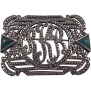REDUCED Art Deco Sterling Silver Marcasite Brooch