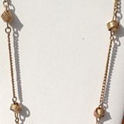 SALE Vintage Gold Tone Metal Avon Love Knot Necklace