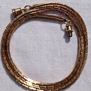 Vintage Gold Tone Fancy Link Chain Necklace