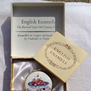 REDUCED Vintage Crummles English Enamel Box