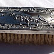 SALE Vintage Silver Plate Clothes Brush