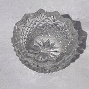 SOLD Victorian Cut Crystal Salt Dish - Red Tag Sale Item