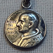 SALE Vintage 800 Silver Pope Paul VI Medal
