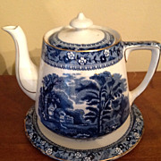 Vintage Palissy Ivanhoe Teapot With Stand
