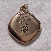 REDUCED Victorian Gold Filled Double Photo Locket