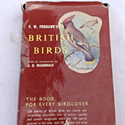 SALE 1958 First Edition British Birds By F. W. Frohawk