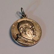 REDUCED Vintage Silver Tone Metal Pope John XXIII Medal