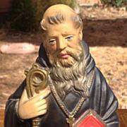 Vintage Saint  Cyril  Chalk Statue