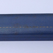 SOLD Vintage Blue Leather Bracelet/Necklace Presentation Box