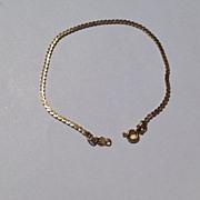 Vintage Gold Filled Serpentine Chain Bracelet