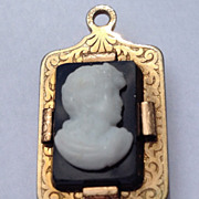 Vintage Gold Filled Two Sided Cameo Intaglio Pendant Fob