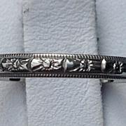 REDUCED Vintage 18 K White Gold Wedding Band Ring