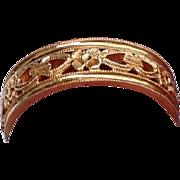 REDUCED Vintage Detailed 14 K Gold Wedding Band Ring