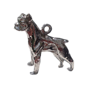 Vintage Sterling Silver Bulldog Boxer Charm