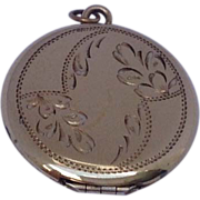 REDUCED Vintage  Gold Filled Double Photo Locket