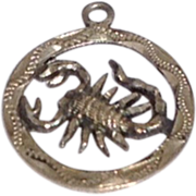 Vintage Mexico Sterling Silver Scorpion Charm