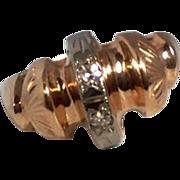 REDUCED Vintage  14 K  Rose Gold Diamond Ring