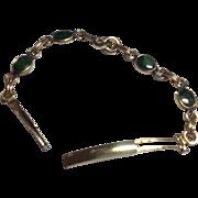 Vintage  10 K Gold Filled Jade Watch Band