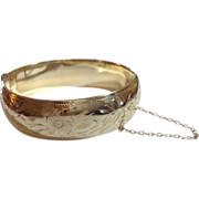 REDUCED Vintage Gold Filled Bangle Bracelet