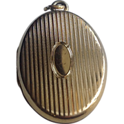 Vintage Gold Filled Double Photo Locket