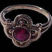 REDUCED Vintage 14 K Gold Ruby Ring