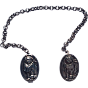 REDUCED Vintage Kitten Motif  Payne & Barker Sterling Silver Sweater Guards
