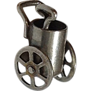 Vintage Three Dimensional Mechanical Sterling Silver Golf Cart Charm