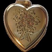 Vintage Gold Filled Heart Shape Double Locket