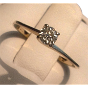 REDUCED Vintage 10 K Gold Diamond Solitaire Promise Engagement Ring
