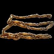 SOLD Vintage Gold Filled Ornate Link Pocket Watch Chain
