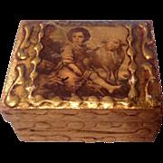 Vintage Gold Gilt. Box