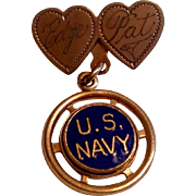 REDUCED Vintage 1940's  U. S. Navy Sweetheart Pin