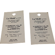 Vintage La Mode Buttons Made In Japan