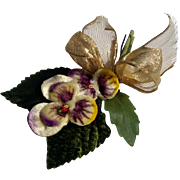 Vintage Pansy Millinery Flower