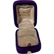 Vintage Purple Velvet C. H. Baldwin Ring Display Box