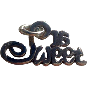 Vintage Sterling Silver Sweet Sixteen Charm