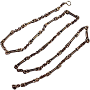 REDUCED Wonderful Victorian  Gold Filled Ornate Link Chain