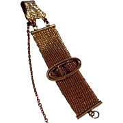 Victorian Gold Filled Mesh Watch Chain