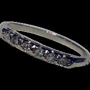 Vintage 14 K Gold Diamond Wedding Stacker Band