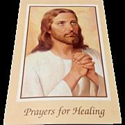 Vintage Prayers For Healing Prayer Card
