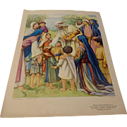 REDUCED Cicely Barker Lithograph Nursery Picture #7 Southern Baptist Convention