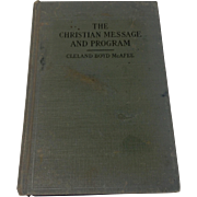The Christian Message And Program 1929