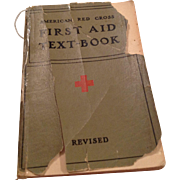 1940 American Red Cross First Aid Text Book