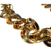 Vintage Gold Filed Flexible Link Trifari Necklace